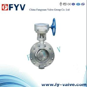 API Flange End Cast Steel Butterfly Valve pictures & photos