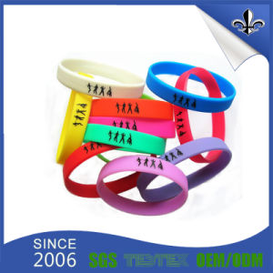 Wholesale New 2017 Fashion Debossed Rubber Silicone Bracelet pictures & photos