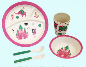 Eco-Friendly Bamboo Fiber Kids Dinnerware Sets (YK-BS1004) pictures & photos