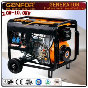 High Quality Air Cooled 4 Storke Diesel Engine 3kw Small Portable Diesel Generator pictures & photos