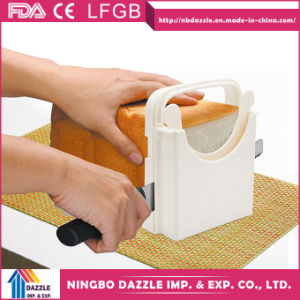 Wholesale Folding Adjustable Bakery Home Bread Slicer with 5 Slice Thicknesses pictures & photos