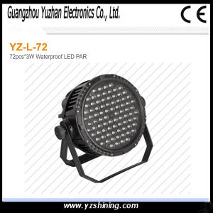 IP67 Outdoor 72pcsx3w RGBW Waterproof LED Stage PAR Light pictures & photos