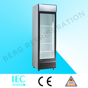Supermarket Beverage Cooler Four Glass Door Refrigerator with Ce pictures & photos
