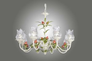 Floral Strawberry Green Leaf Glass Shade Chandelier for Home pictures & photos