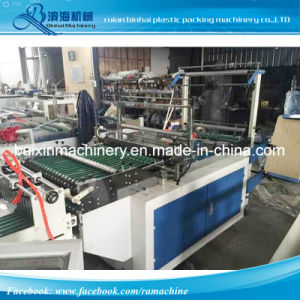 Two Lines BOPP Self-Adhesive Plastic Bag Making Machine pictures & photos