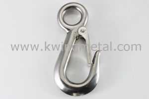 Stainless Steel Large Eye Hook with Latch pictures & photos
