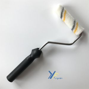 Fy 4′′ Polyester Mini Gray-Yellow Stripe Paint Roller pictures & photos