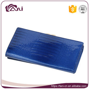2017 Elegant Design Crocodile Leather Wallet, Fani Brand Wallet Jewelry Blue pictures & photos