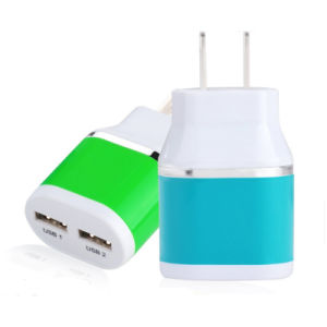 2.1A Universal Dual USB Home Travel Wall Charger pictures & photos