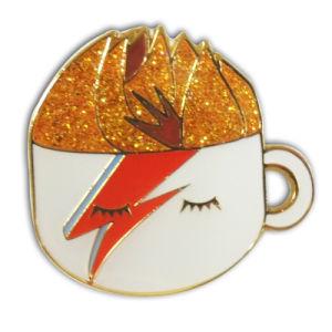 Customized Enamel Gold Glitter Coffee Mug Badge pictures & photos