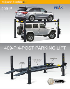 9000 Lb Four Post Hydraulic Parking Lift (409-P) pictures & photos