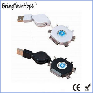 Customed 6 in 1 Retractable USB Cable for Smart Phone pictures & photos