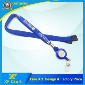 Promotional Custom Wholesale Fabric/Military/Satin/Soft/Printed/Polyester/Neck Ribbon Strap (XF-LY10) pictures & photos