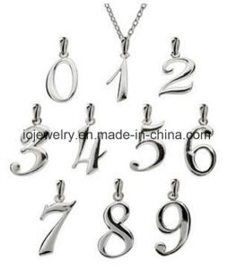 Custom Sterling Silver Number Pendants pictures & photos