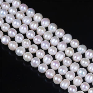 a Quality 9mm 10mm Potato Shape White Loose Pearl Strand pictures & photos