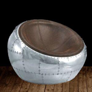 Retro Leisure Aluminum Moon Hemisphere Floor Chair pictures & photos