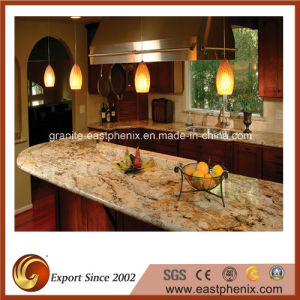 Delicatus Gold Granite Countertops for Kitchen/Worktop pictures & photos