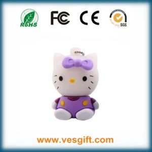 Hello Kitty Lovely Cutom Design Fashion PVC USB Flash Memory pictures & photos