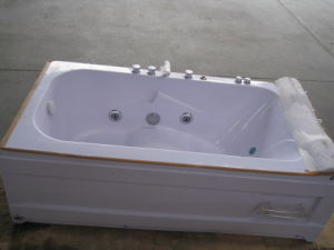 CE ISO9001 Rectangle Indoor Whirlpool Bathtub with Glass (CL-320) pictures & photos