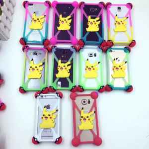 Universal Pokemon Pokeball Pikachu Silicone Mobile Phone Cases pictures & photos