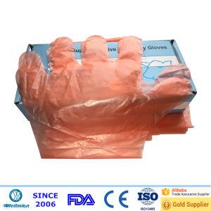 Long Arm Disposable Plastic Gloves pictures & photos