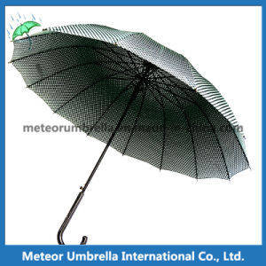 Fashion Mens Cool Sport Black Grid Golf Straight Umbrella