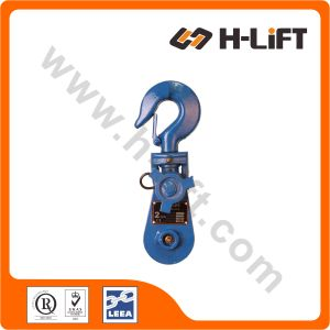 Heavy Duty Wire Rope Snatch Block with Hook pictures & photos