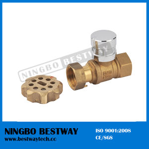 Forged Brass Lockable Ball Valve with Magnetic Lock (BW-L01A) pictures & photos