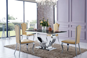 Modern Glass Stainless Steel Dining Room Furniture (SJ806) pictures & photos