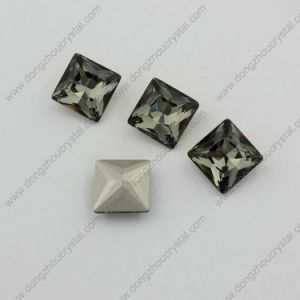 Black Diamond Square Jewelry Garment Stone for Wholesale pictures & photos