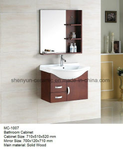 Bathroom Furniture Bathroom Cabinet with Ceramic Wash Basin (MC-1007) pictures & photos