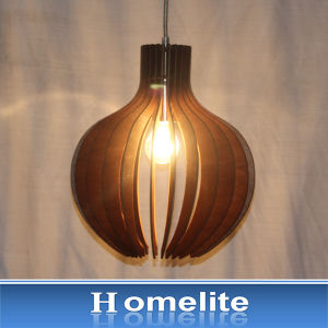 Religious Features Wood Art Pendant Light
