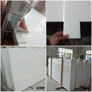 Us Hotel Projects Used 3cm Pure White Quartz Stone Slab pictures & photos