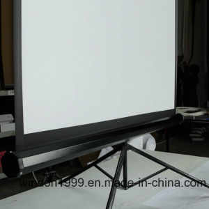"4: 3 84"" Portable Tripod Projector Pull up Projection Screen with Cheap Price pictures & photos"
