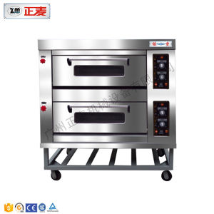 Commercial Double Deck Pizza Bred Oven Restaurnt with Steam (ZBB-202D) pictures & photos