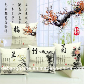The Elegant Chinese Style Sofa/Office Chair Pillow Cotton Linen Cushion pictures & photos
