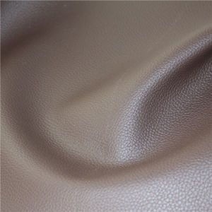 Superfine Quality Embossed Lichee Pattern Living Room Furniture Microfiber Leather pictures & photos