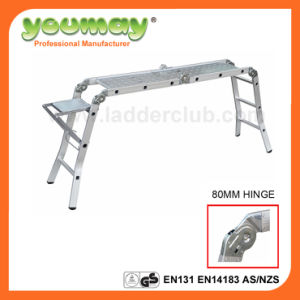 AS/NZS 1892.1: 1996 Approved Au Standard Step Ladder Garden Ladder Household Ladder Aluminum Multi-Purpose Ladder with 120kgs Max Loading for (Am0112c)