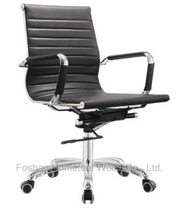 Hot Sale Modern Medium Back Leather Office Swivel Chair (HF-CH022B) pictures & photos