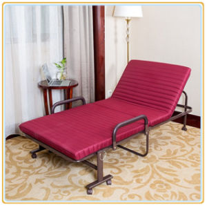Folding Bed Rollaway Guest Bed Steel Frame with Foam Mattress pictures & photos