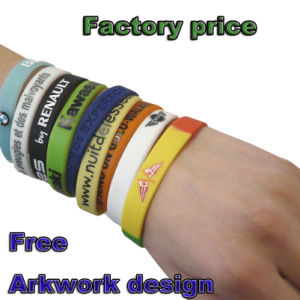 Promotional Wristband with Logo Design pictures & photos