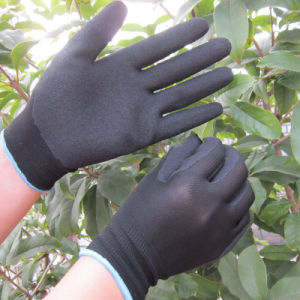 13G Nylon Coated Sandy Nitrile Gloves Anti-Slip Work Glove pictures & photos