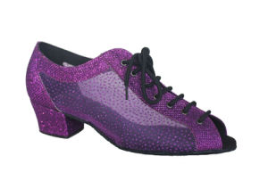 Women′s Purple Open Toes Tango Practice Shoes pictures & photos