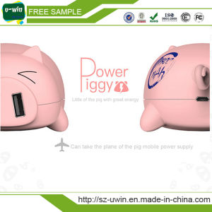 Bulk Sale 11500mAh Full Capacity Pig Mobile Power Bank pictures & photos