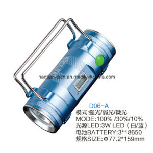 3*18650 Lithium Battery Blue Light Rechargeable Fishing Light pictures & photos