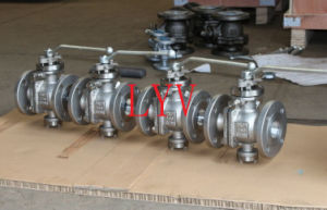 Flanged Soft Sealing Ball Valve with Worm Gear