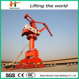 360 Degree Slewing Portal Container Lifting Jib Crane pictures & photos
