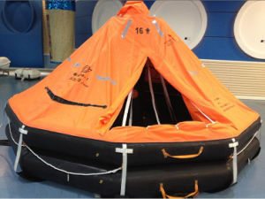 Solas Approved Inflatable Life Raft with Hru Cradle Ship Lifesaving pictures & photos