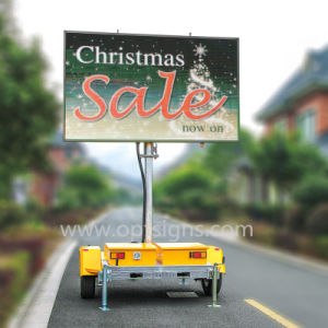 Mobile Taxi Advertising Trailer Digital Billboard Truck Car Roof Signs Can  Bus LED Display Board