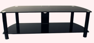 Economic Tempered Glass TV Stand/Double Layer pictures & photos